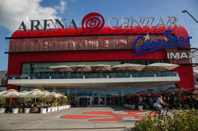 Arena Centar Shopping In Out Of The Centre Croatia